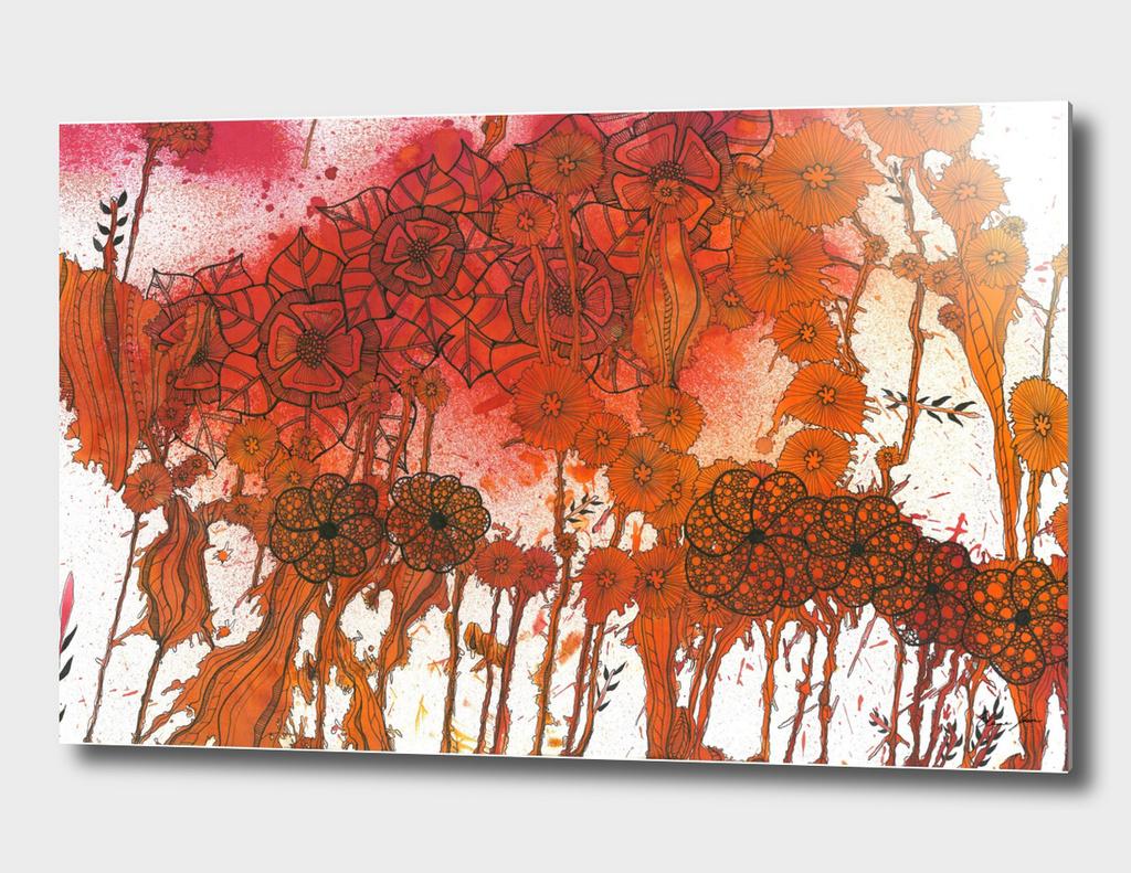 Flaming Floral Fury
