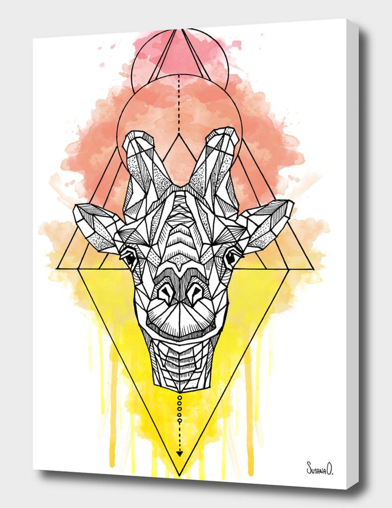 Animal Collection (Giraffe Watercolor)