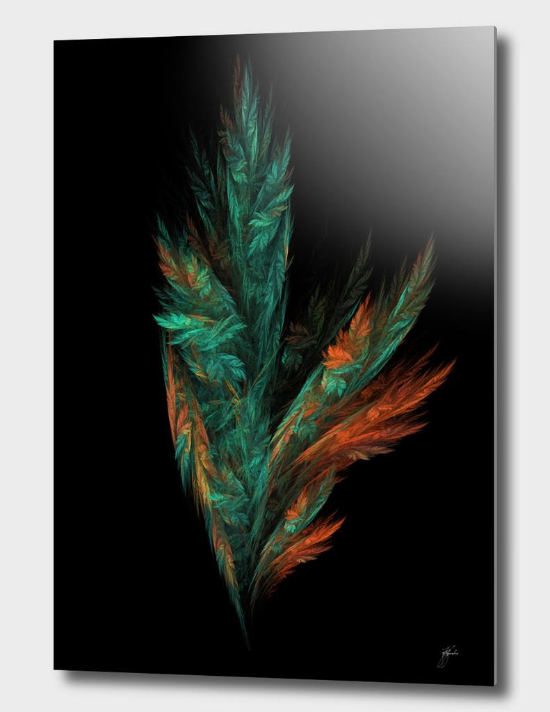 flower green fractal art