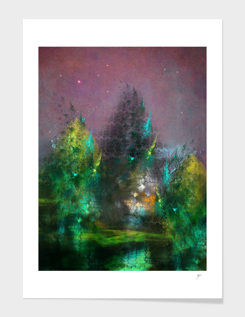 magic forest fractal art