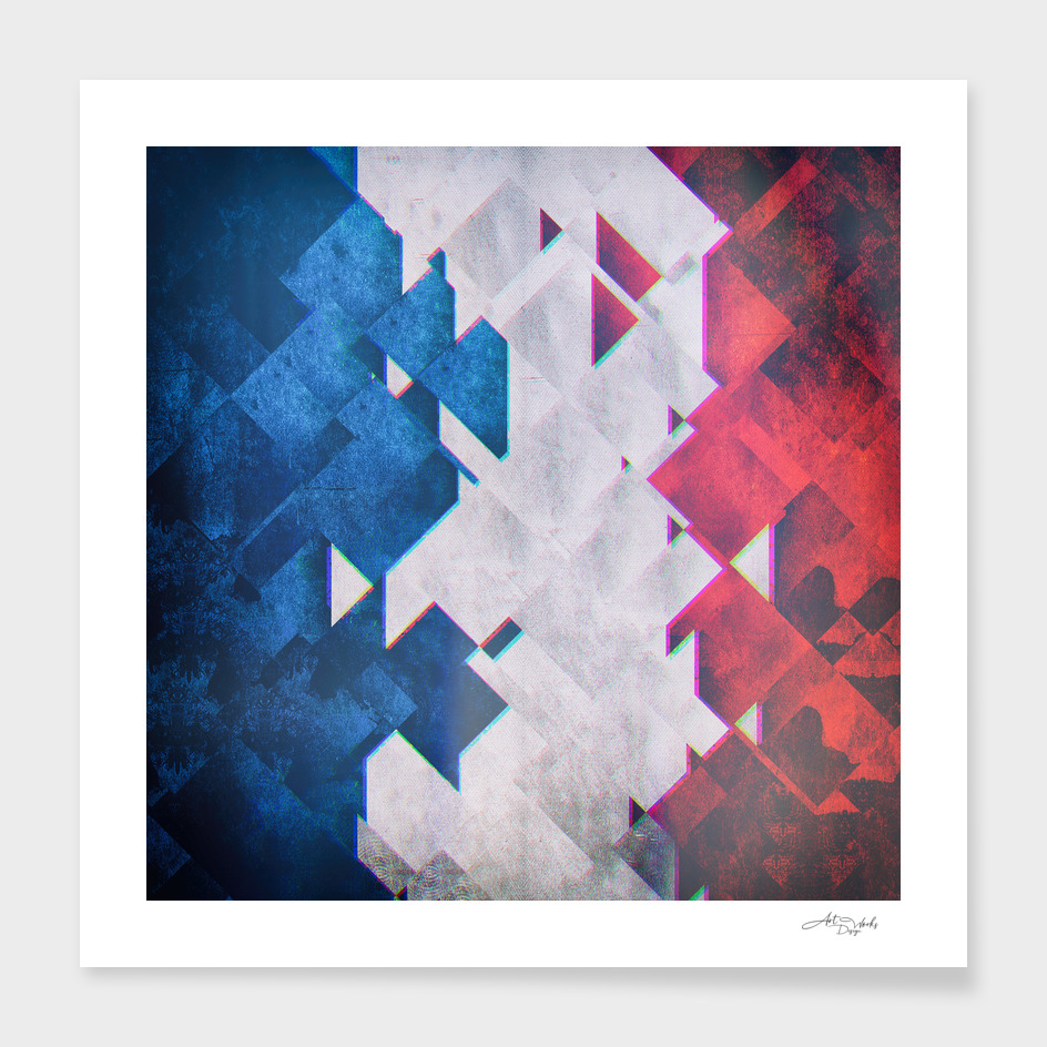 Flag II - France'Glitch  / LE