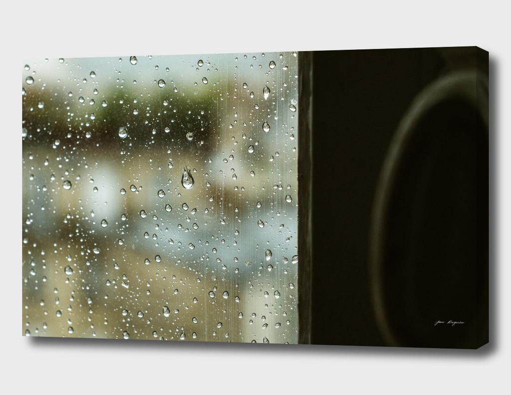 Rain through the window