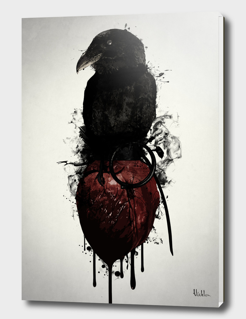 Raven and Heart Grenade