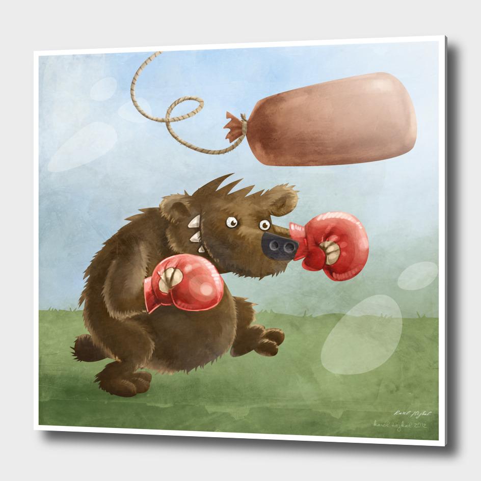 Bear the boxer