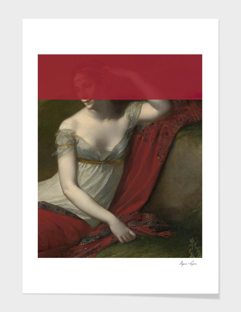 altered art female portrait