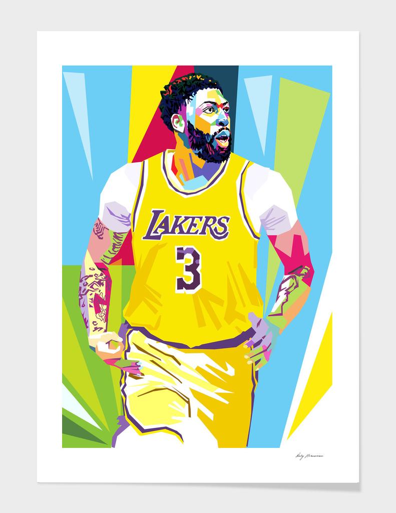 Anthony Davis LA lakers art print