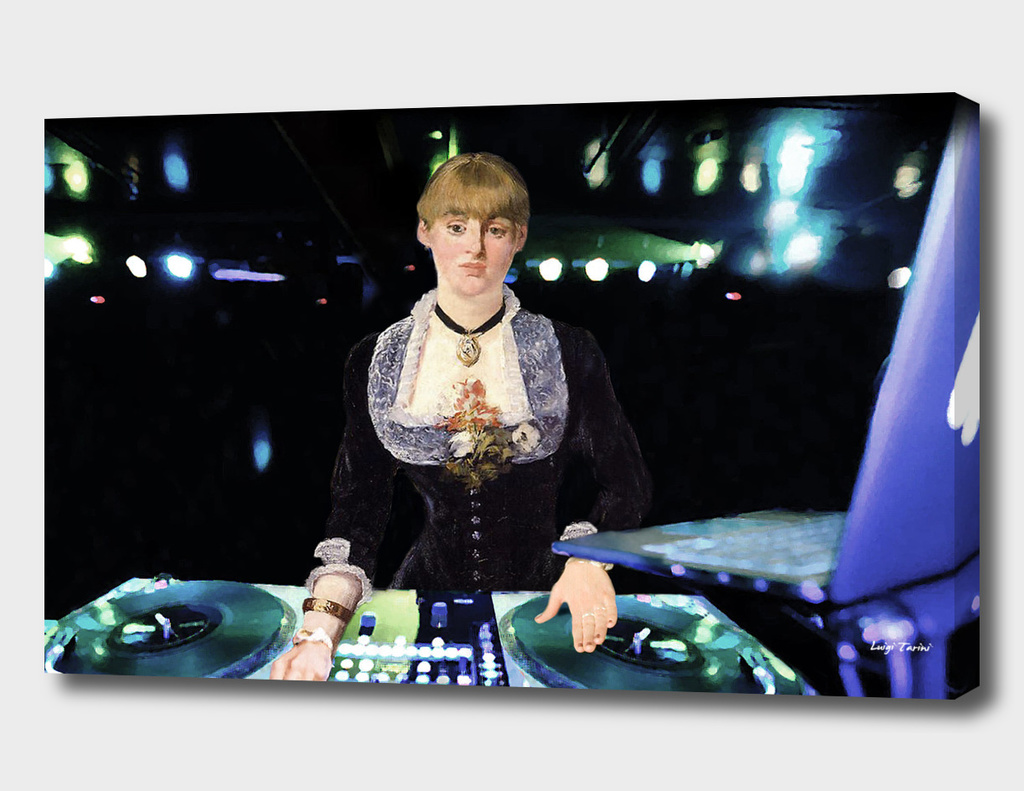 A DJ at the Folies-Bergère