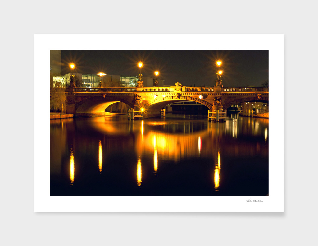 Moltke Bridge on the river Spree in Berlin