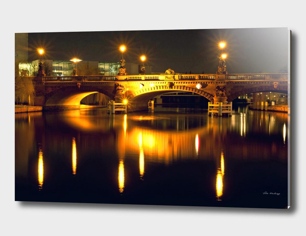 Moltke Bridge on the river Spree in Berlin