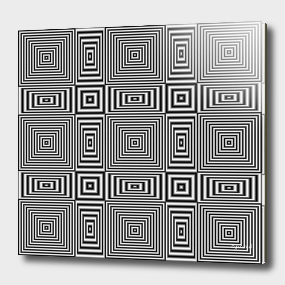 Flickering geometric optical illusion