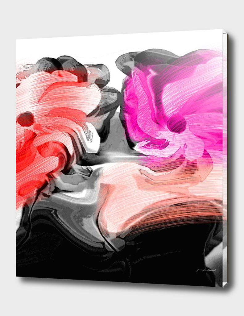 Abstract Flowers Pink and Red 4