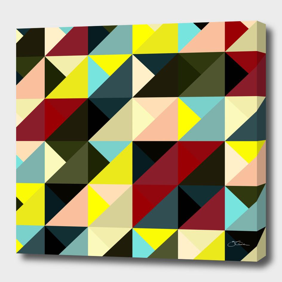 Diagonal triangle pattern