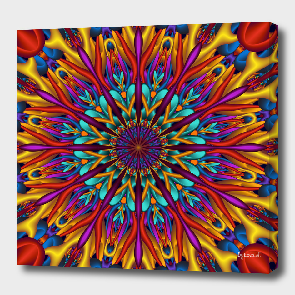 Amazing colors 3D mandala