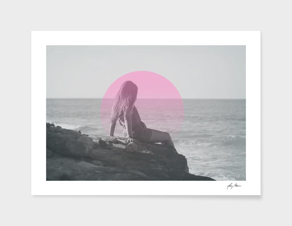 Girl On Rocks.