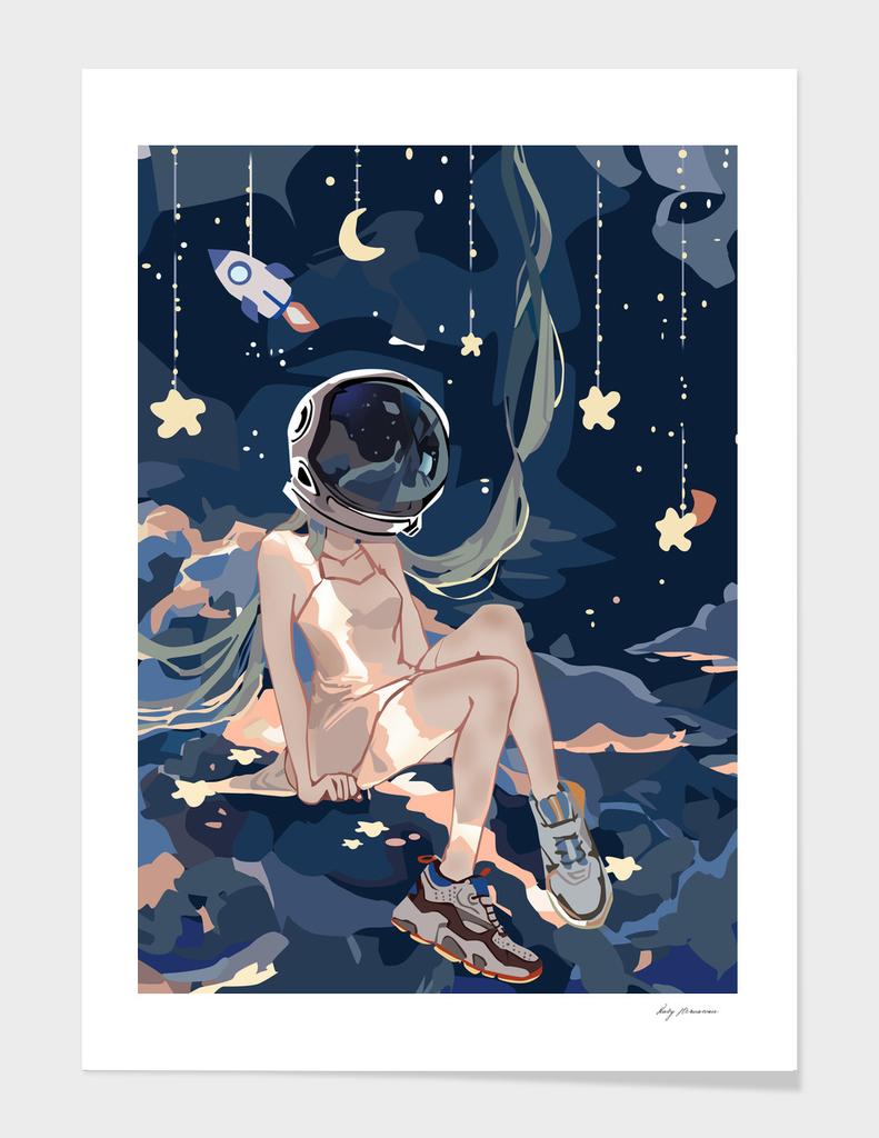 Astronaut Miku