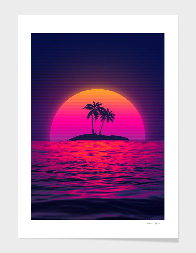 Beach Palm Sunset