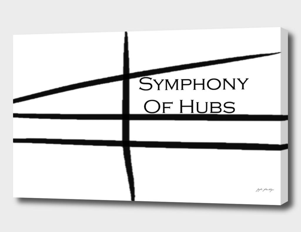 The Official White Logo for Symphony of Hubs LTD.