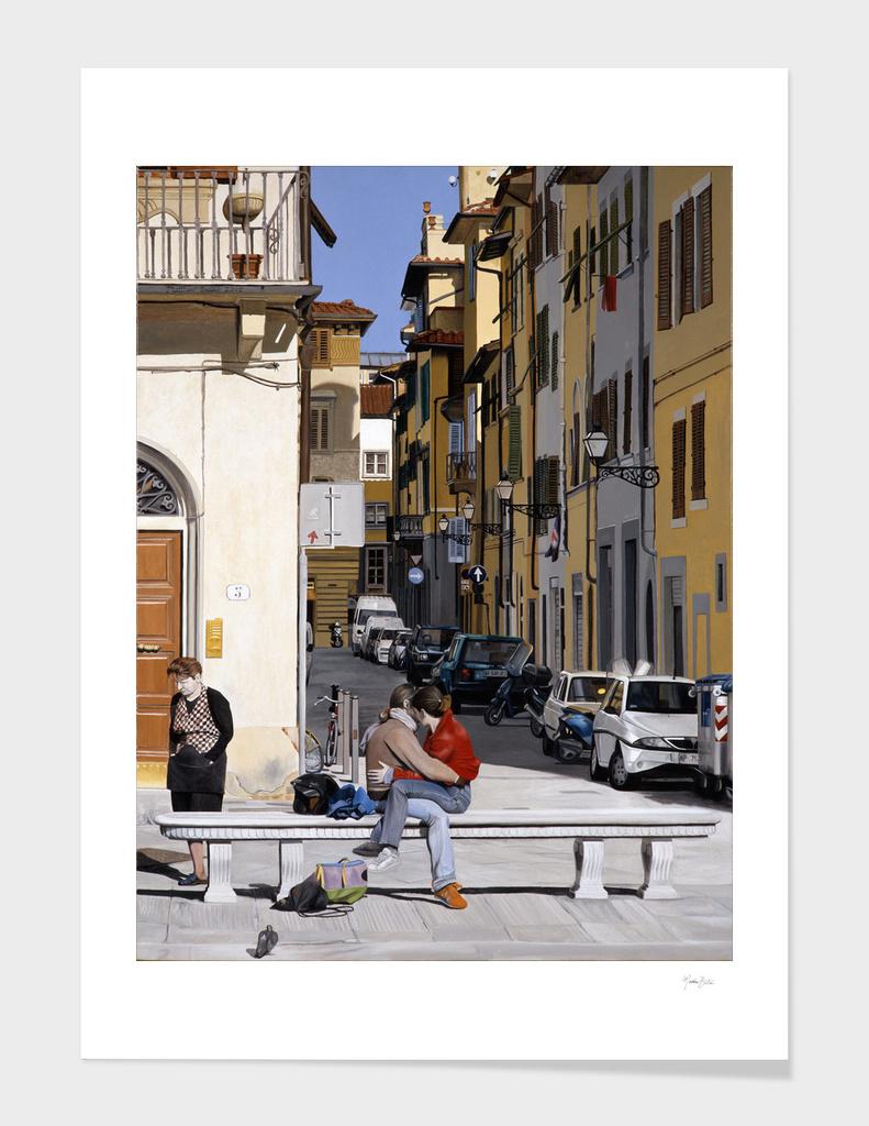 Lovers in Santa Croce