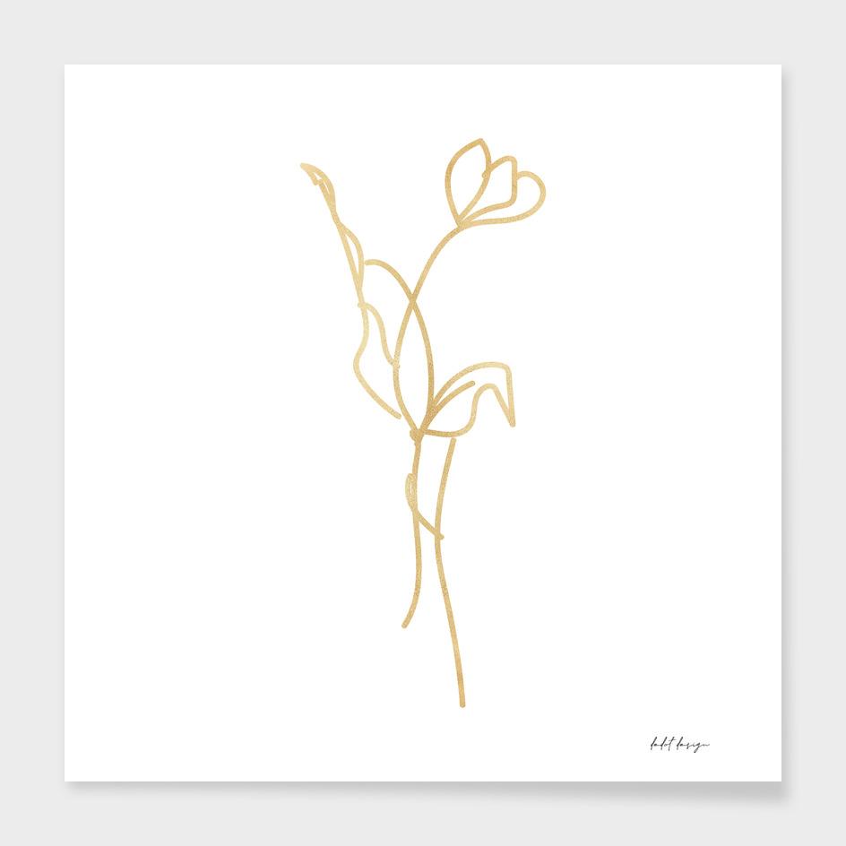 line art flower aesthetic
