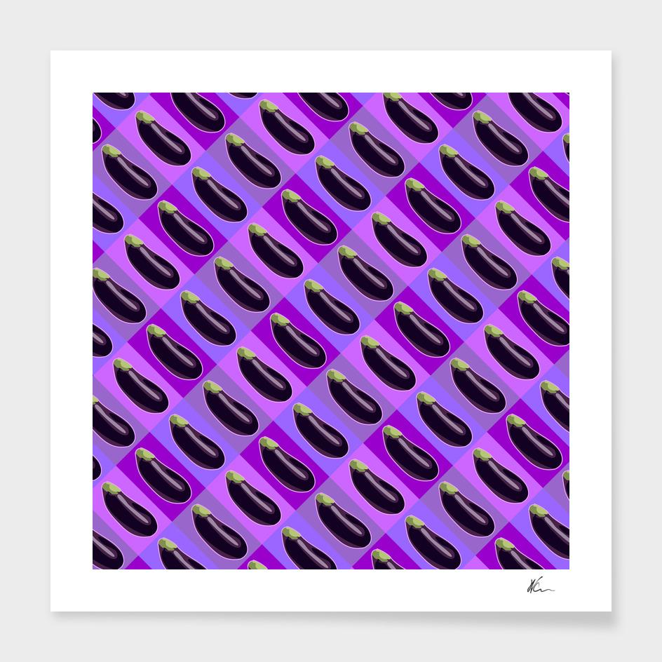 Eggplant Color Pattern | Pop Art