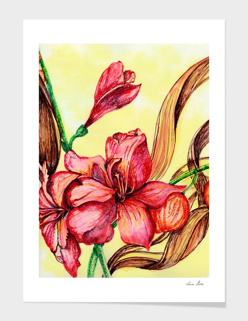 Still Life Flowers Study