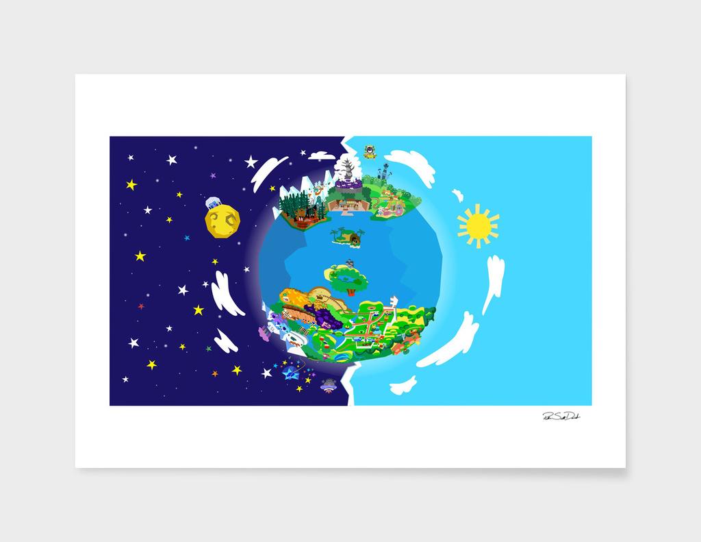 Paper Mario Series World Map