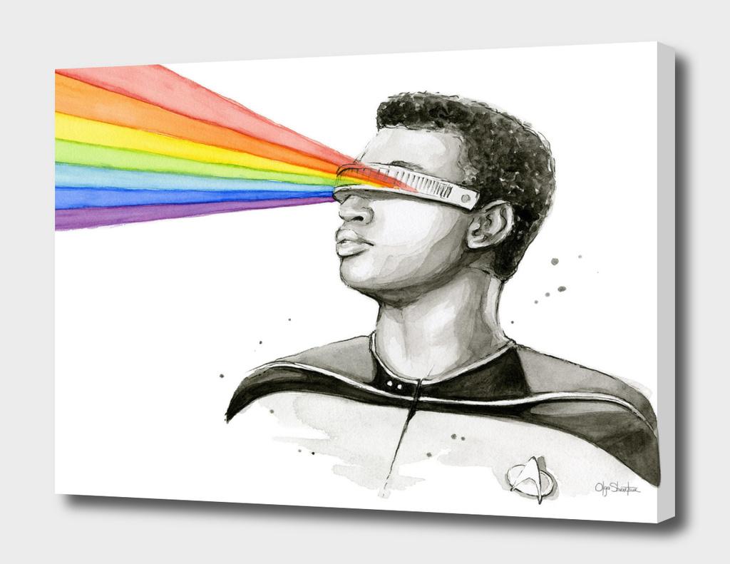 Geordi Sees the Rainbow