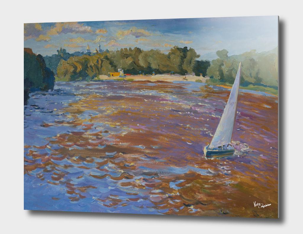 Boat on Desna River