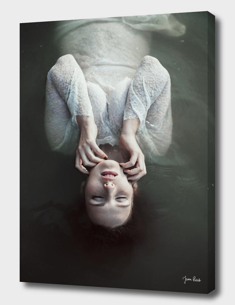 Girl floating