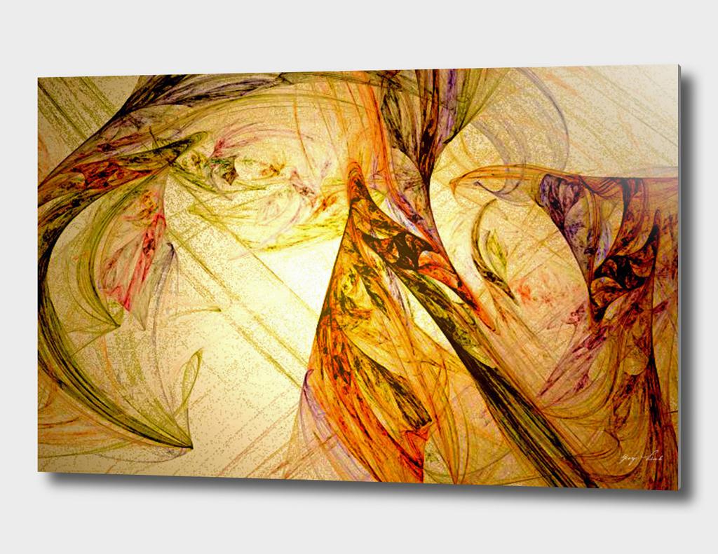 Creative Glow Behind Veil Of Illusion