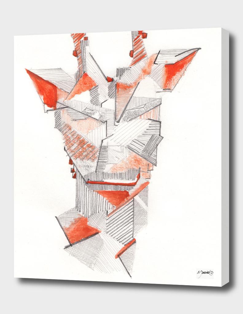 Origami, cubical Giraffe face