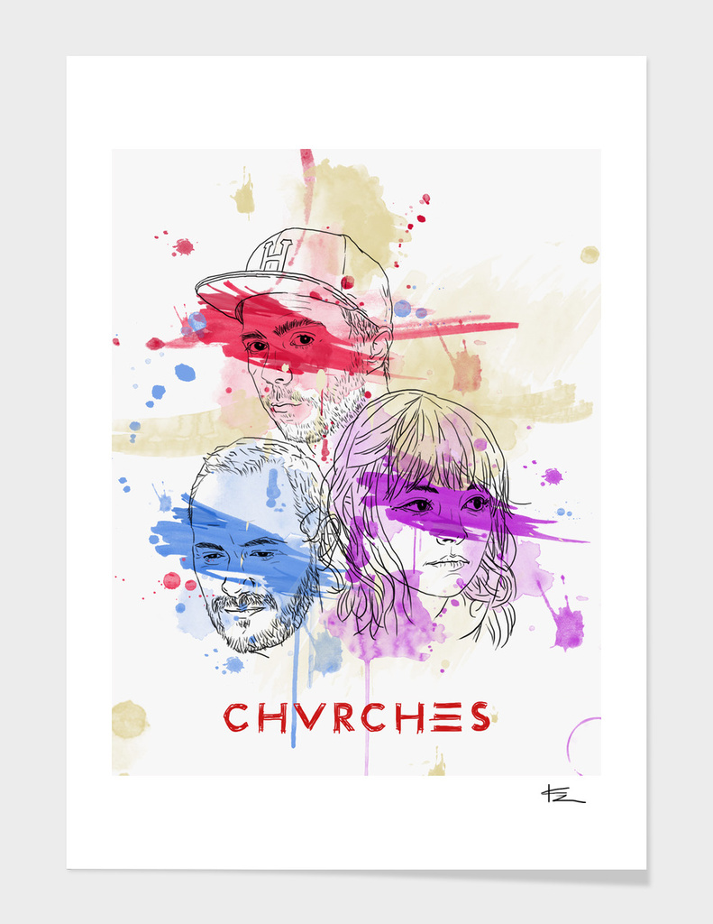 Chvrches Illustration