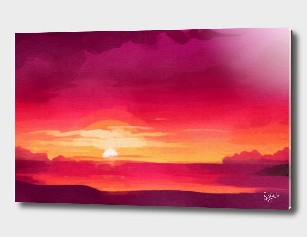 A Panoramic Sunset
