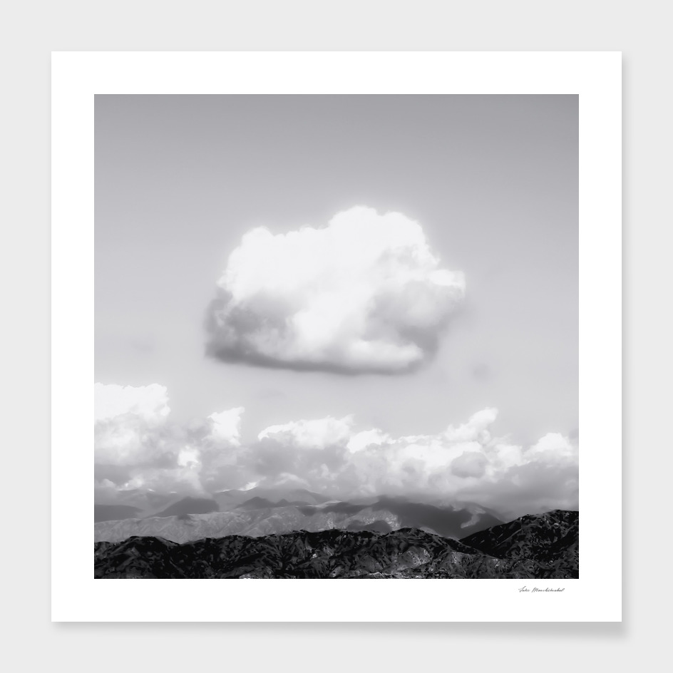mountain with cloudy sky in Los Angeles USA