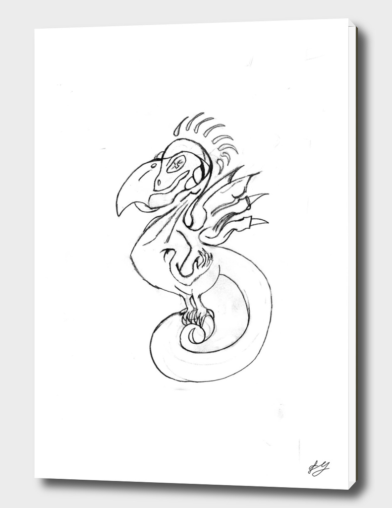 Bird with skull