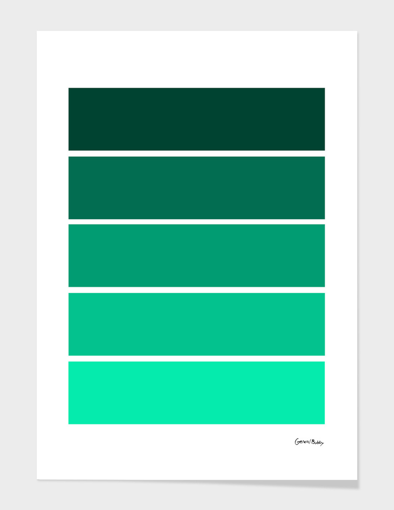 Colour Bars - TEAL