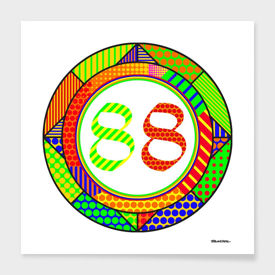 Circle OLD ENGLISH Modern - 1988 - Pop Art