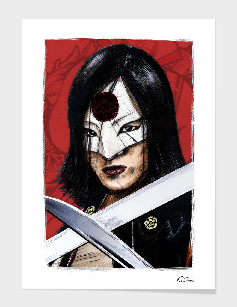Katana - Ink & Digital Portrait