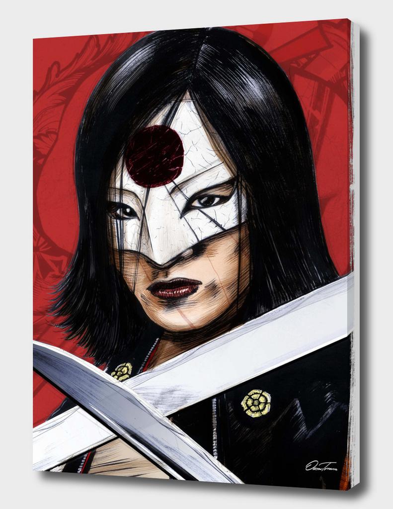 Katana - Ink & Digital Portrait