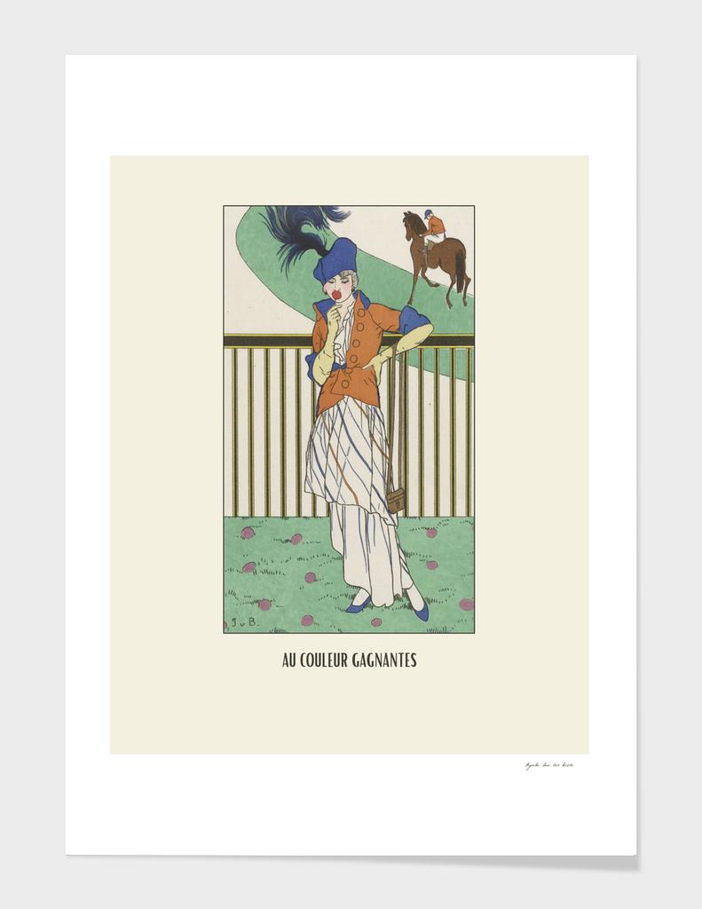 Au couleur gagnantes - Boho, sports, game, Art Deco, Horse