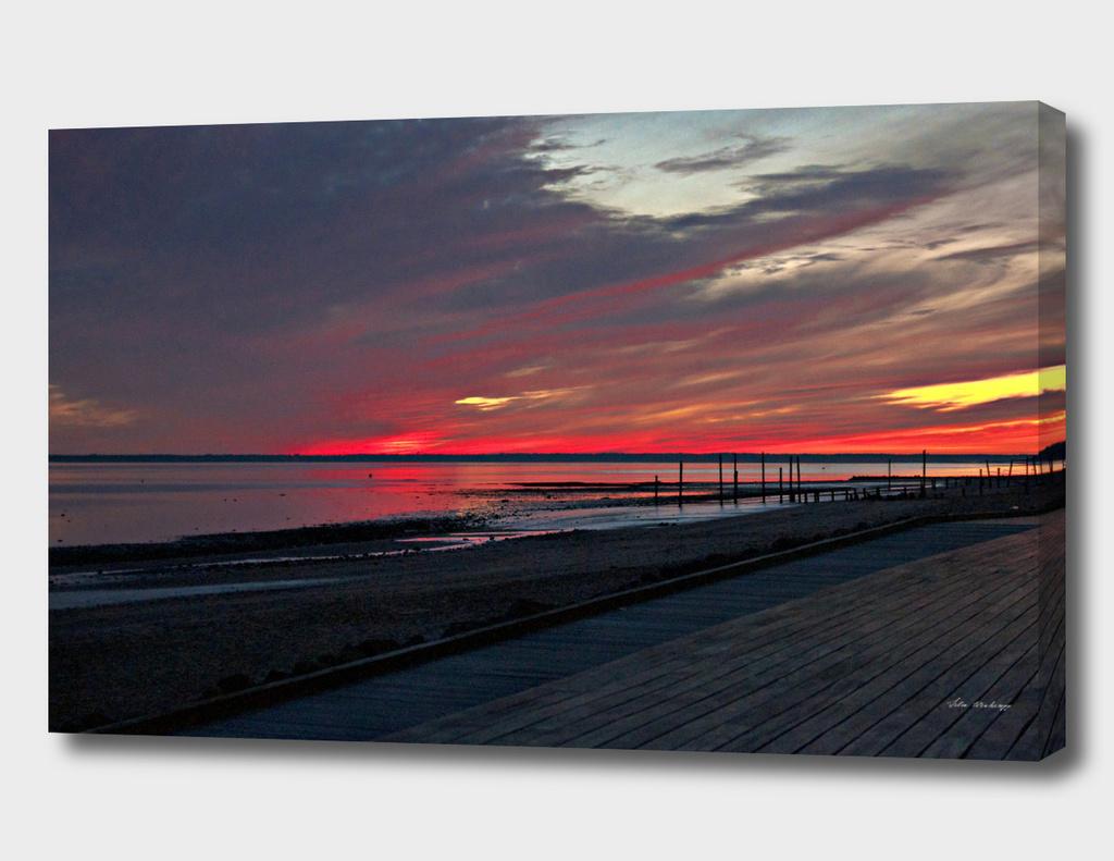 Scandinavian Summer Sunset of Denmark