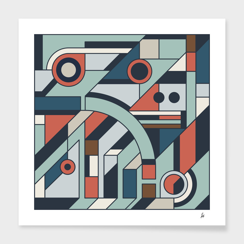 Sherwin-Williams 2021 Colors Cubism Style Drawing