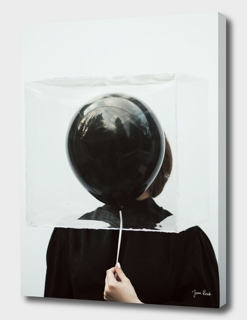 Behind the balloon