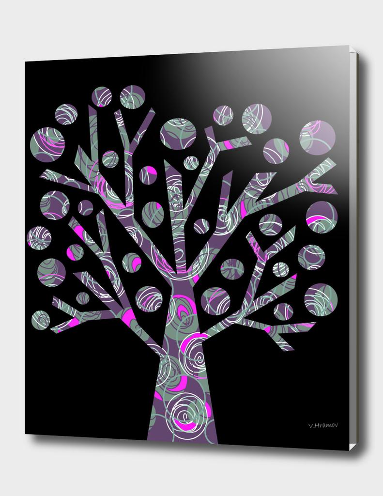 Purple magical tree