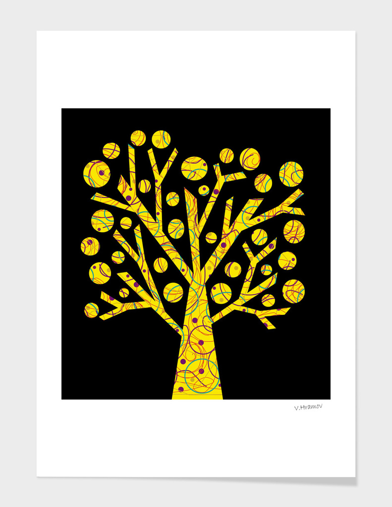 Yellow magical tree