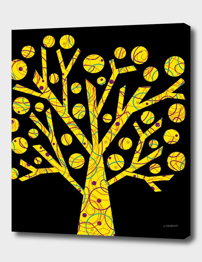 Yellow magical tree