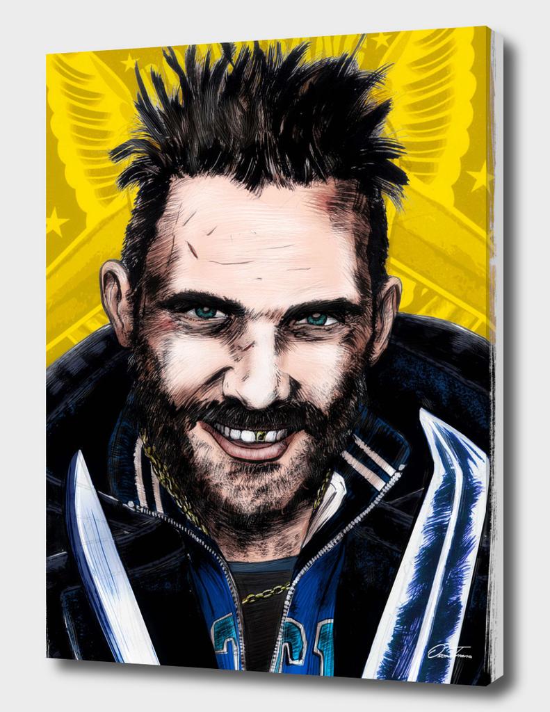 Boomerang - Ink & Digital Portrait