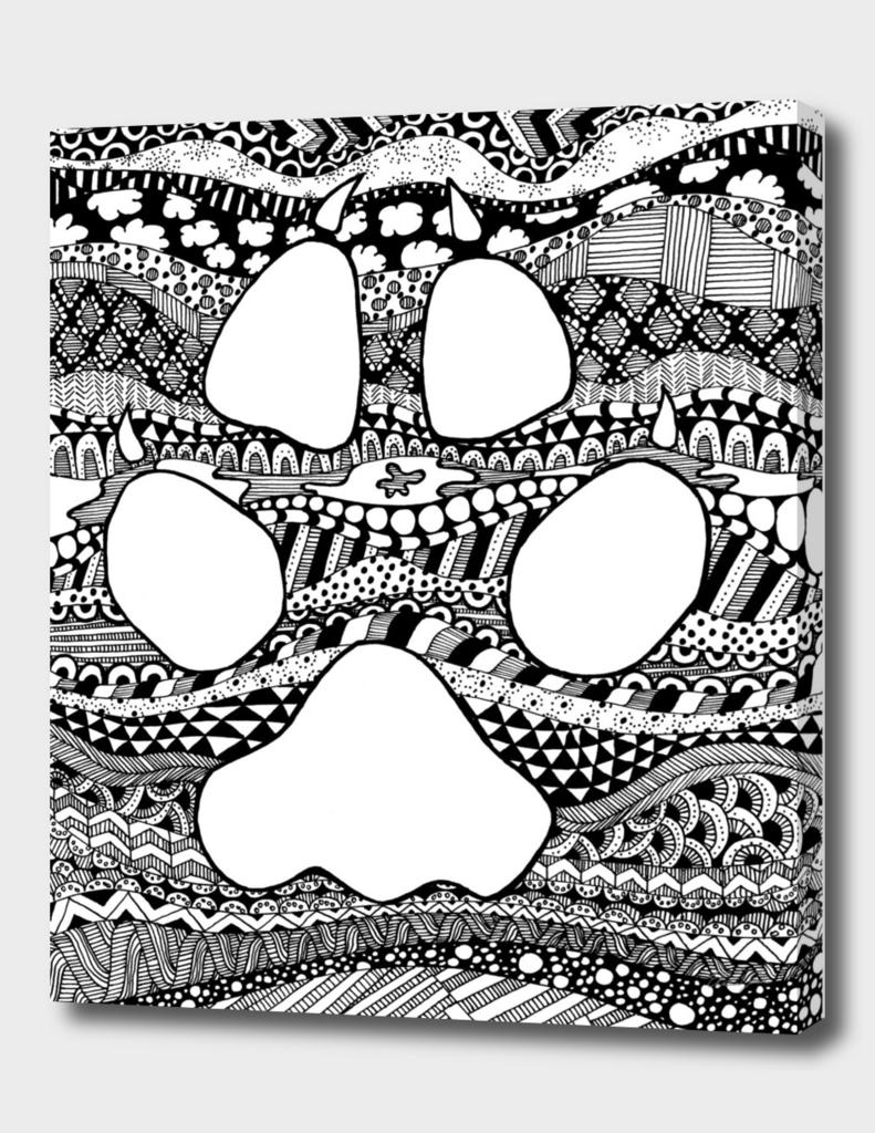 Coyote Track Zentangle