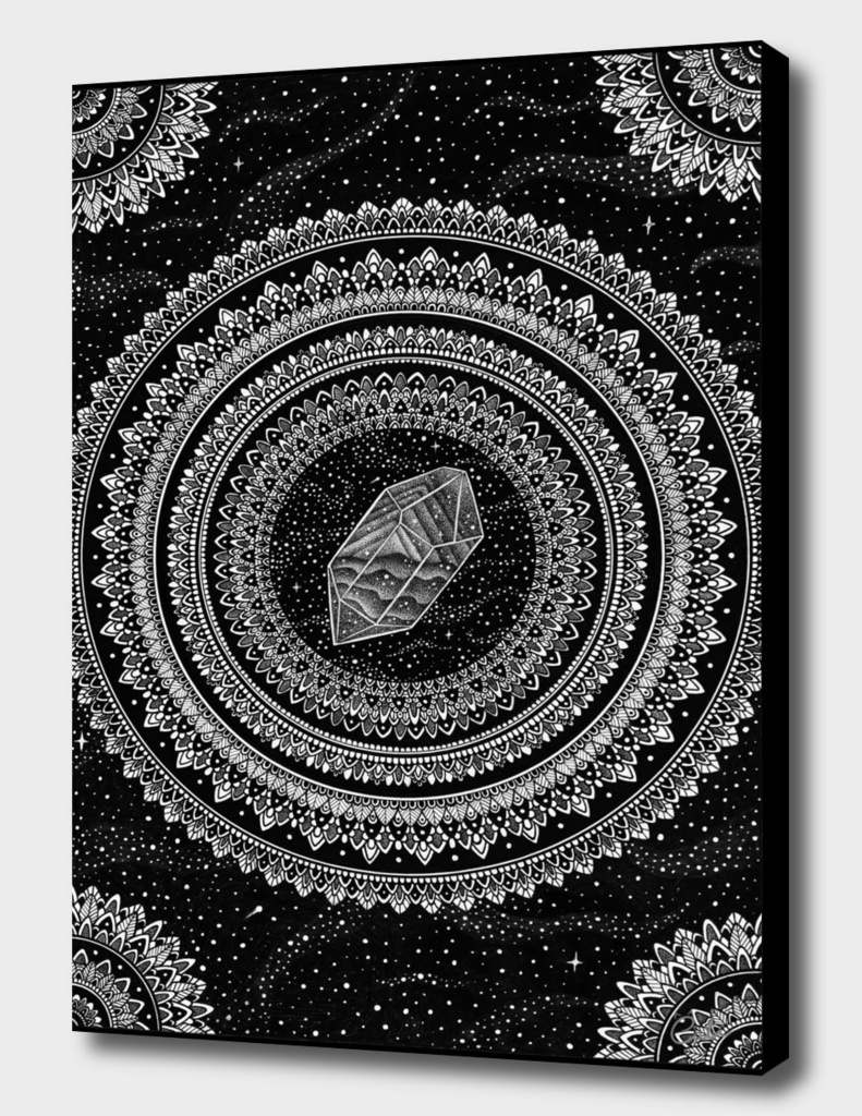 Black and White Gravitation Mandala