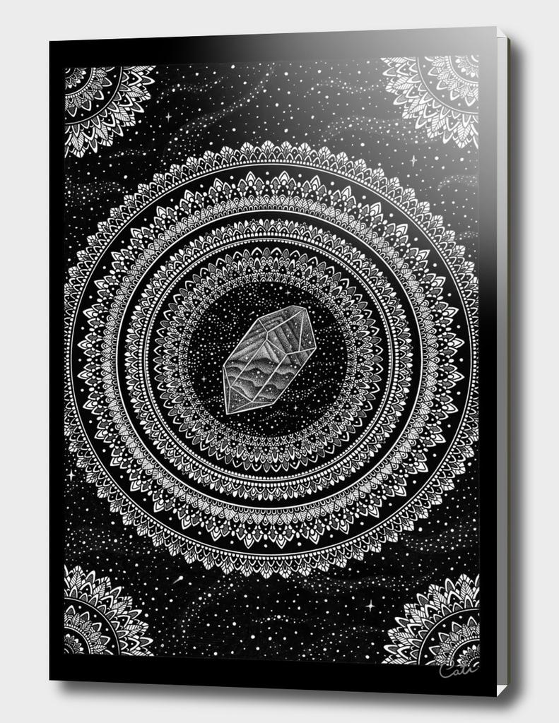 Black and White Gravitation Mandala